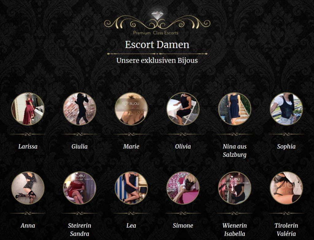 escort girls on Bijou website