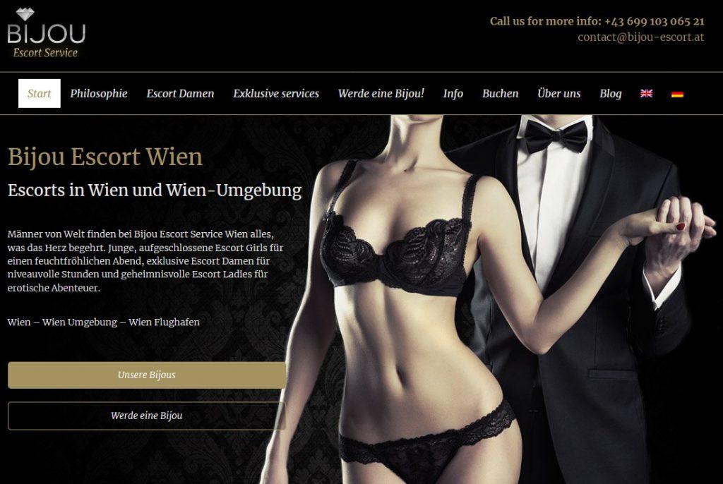 hotel escort on Bijou website