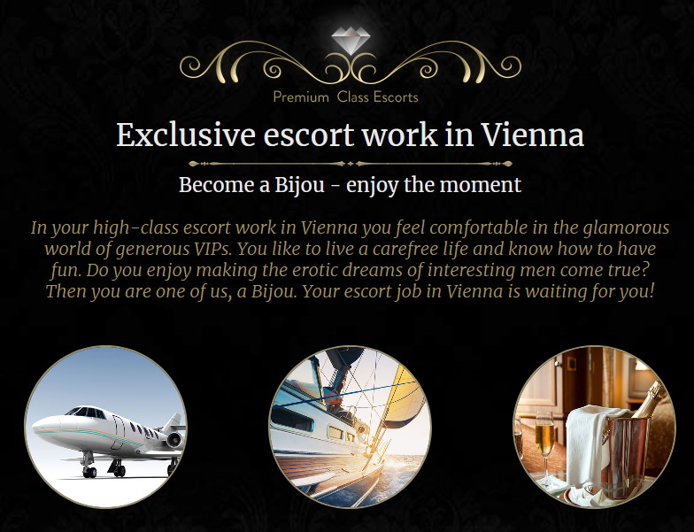 high class escort jobs page at Bijou Escort Agency in Vienna